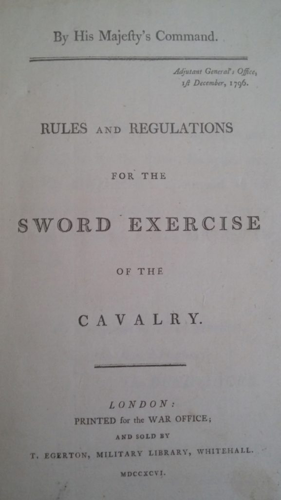 Sword Exercise of the Cavalry